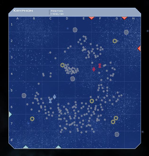 Kryphon System Map