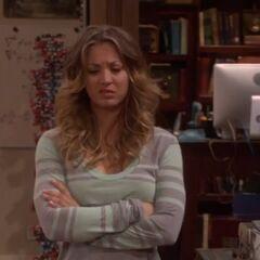 Penny's reaction to Sheldon.