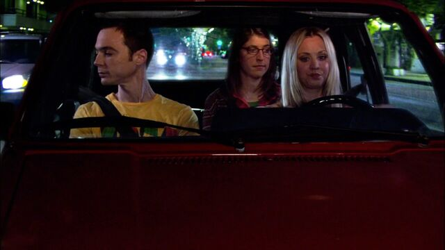 File:36 Penny driving Sheldon and Amy on theyre date 2.jpg