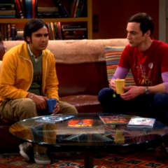 Raj seeking advice from Sheldon.