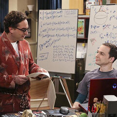 Sheldon and Leonard working together.