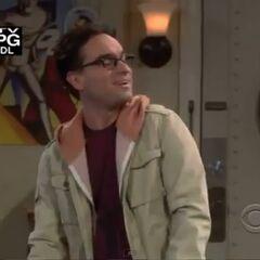 Leonard smiles at Sheldon's reaction to their weekend plan.