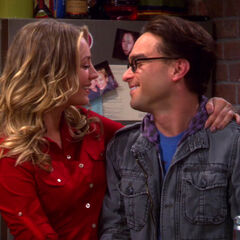 Leonard and Penny share a sweet moment.