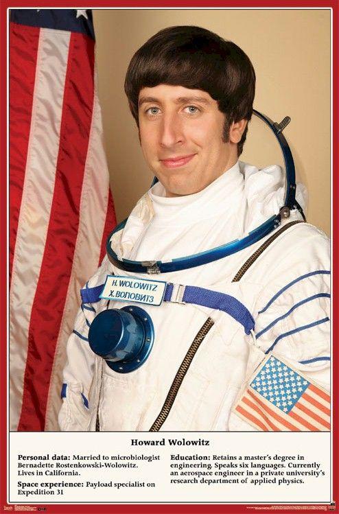 Bildergebnis für howard wolowitz astronaut