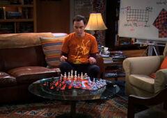 Sheldon emulating 3 person chess