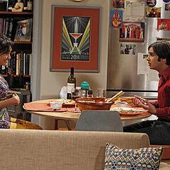 Raj and Lakshmi on their date.