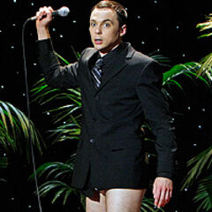 Sheldon without his pants.