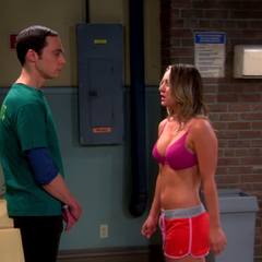 An AR Penny seducing Sheldon. There you are Shenny lovers!!