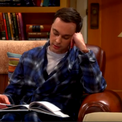 Sheldon ponders what to study after string theory.