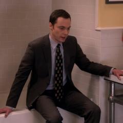 Sheldon in a panic.