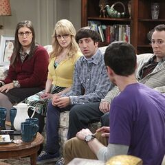 Sheldon accusing his friends of taking sides.