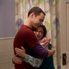 Amy and Sheldon finally happy.