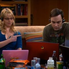 Bernadette shooting Sheldon.