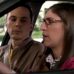 Sheldon thinks that Amy is acting odd.