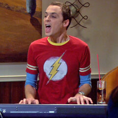 Sheldon drunk and singing at the Cheesecake Factory.