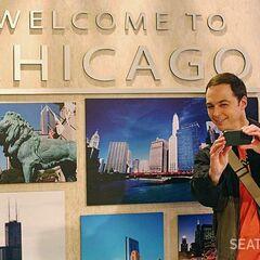 Sheldon's train trip photo.