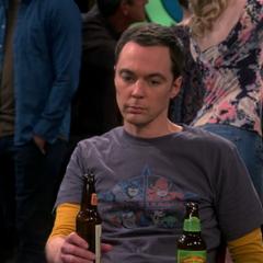 Sheldon at a sport bar.