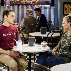 Talking to Sheldon.