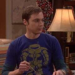 Sheldon thinks he is a teen-heartthrob given the state of his hair.
