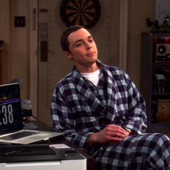Sheldon with his countdown to doomsday.