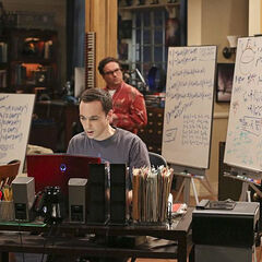 Sheldon wakes Leonard up.