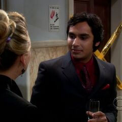 Raj with a date with Penny.