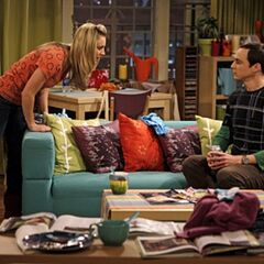 Sheldon is staying over at Penny's.