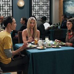 Penny on Sheldon's first date.