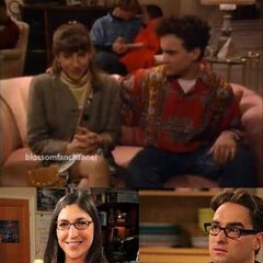 Johnny and Mayim on a previous TV sitcom date on Mayim's show,