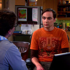 Sheldon and Leonard in the kitchen.