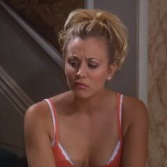 Penny listening to Sheldon's complaints.