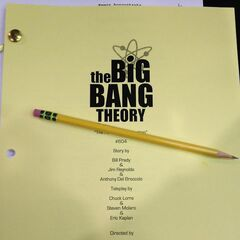 The front page of the script of the episode.
