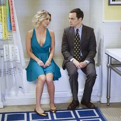 Penny joining Sheldon after a panic attack.