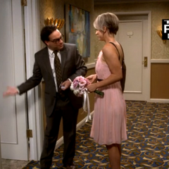 Leonard ushering his bride into their honeymoon suite.