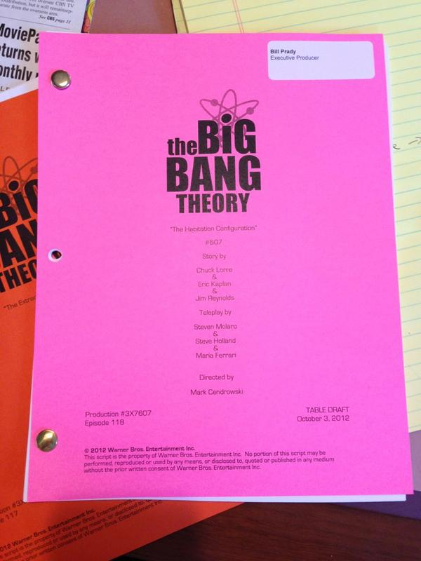 Image result for big bang theory script