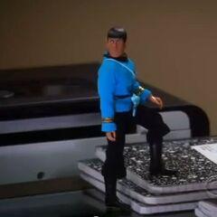 Spock speaks to Sheldon.