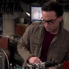 Leonard working his lab.