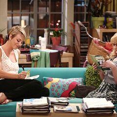 Bernadette helping Penny study.