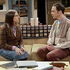 Sheldon getting Amy to help him.