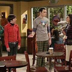 Sheldon and Amy first meet with Raj and Howard in tow.
