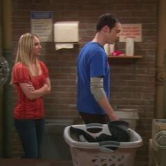 Making laundry night tough on Sheldon.