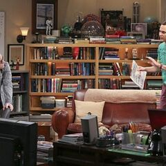 Sheldon looking for flaws in Amy's favorite comic strips.
