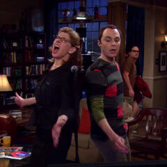 Beverly and Sheldon singing together.