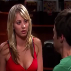 Comforting Sheldon.