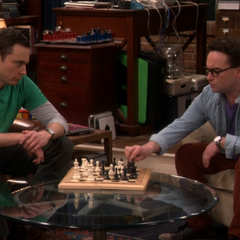 Sheldon telling Leonard in how many moves he's going to lose in.