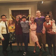 The cast back for Penny and Leonard's wedding.
