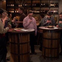 Testing the wine.