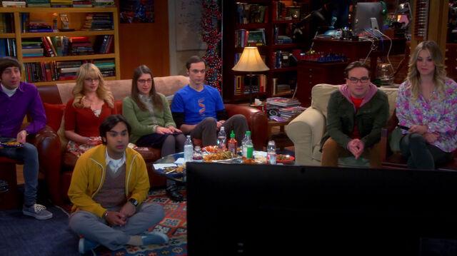 File:The gang watching NCIS.jpg
