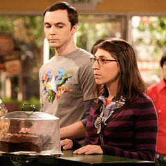 Sheldon buying Amy tepid water when they first met.