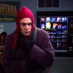 Sheldon arrives in Bozeman, Montana.